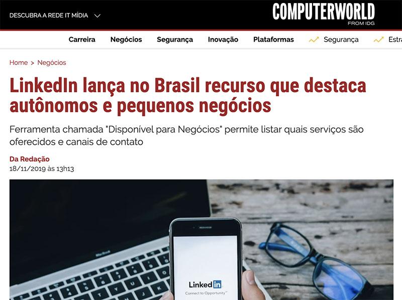 LinkedIn lança no Brasil recurso que destaca autônomos e pequenos negócios