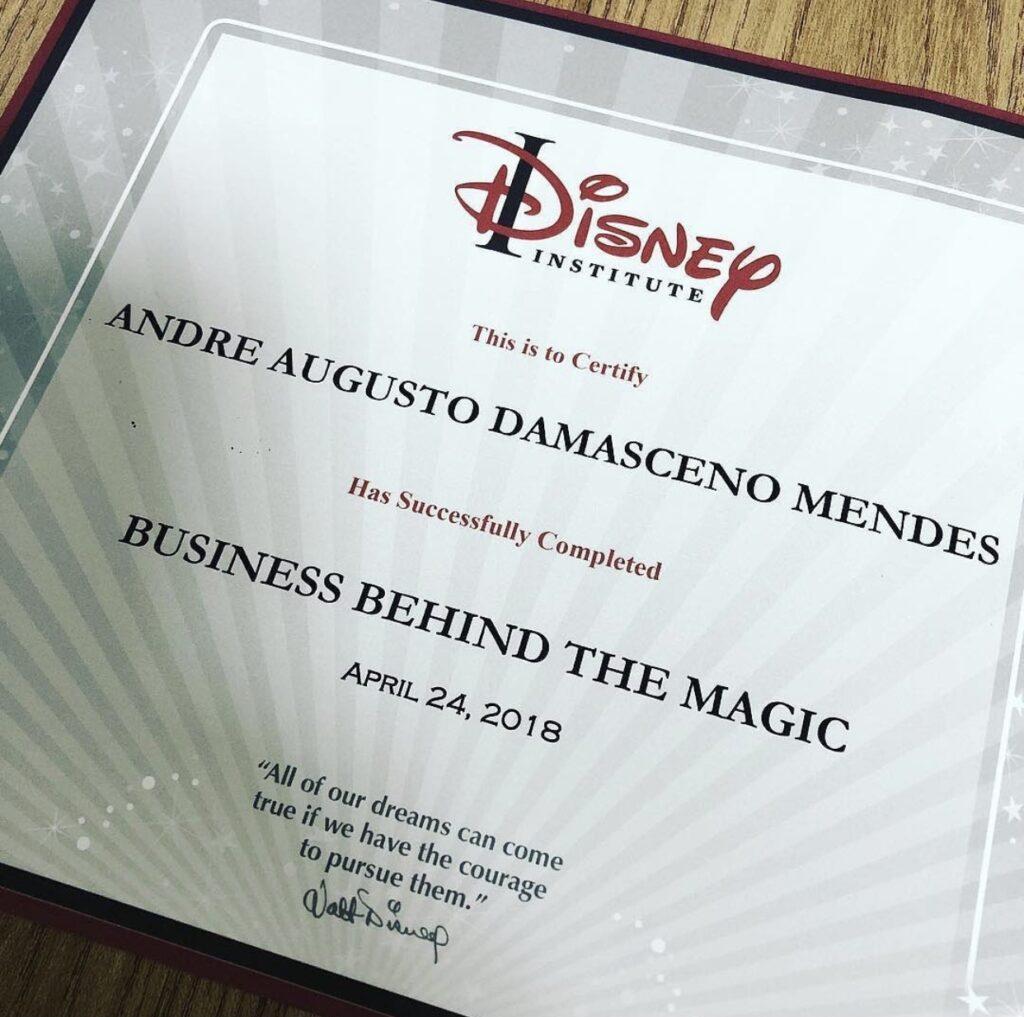 certificado Disney institute